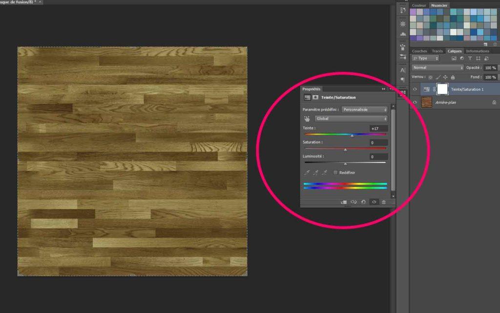 modifier la couleur d'une texture sous photoshop